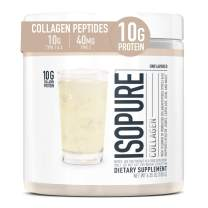 Isopure Multi Collagen Peptides Protein Powder, Vitamin C for Immune Support, Type 1, 2 & 3, Keto Friendly, for Recovery Support, Joints, Cartilage, Skin & Nails - Gluten Free, Unflavored, 15 Servings