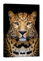 LightFairy Wall Art for Living Room - Glow in The Dark Canvas Painting - Stretched and Framed Giclee Print - Leopard Cat Africa Animal Fur - Wall Decorations for Bedroom - 24 x 36 inch