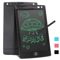LCD Writing Tablet for Kids 8.5 Inch, Bropang Drawing Board Doodle Board Writing Pad Reusable Portable Ewriter Educational Toys, Gift for Kids Student Teacher Adults at Home, School and Office (black)