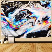"""OZMI Psychedelic Art Tapestry, Tapestry Wall Hanging, Colorful Gouache Natural Luxury Gouache Landscape Tapestry Trippy Tapestry for Bedroom, Living Room, Dorm, Home Decoration (51.2"""" x 59.1"""")"""