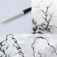 MB030 Hmayart Featured Brush for Chinese Painting & Ink Brush Calligraphy (Long Brush for Landscape)