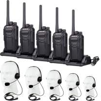 Retevis RT27 Walkie Talkies with Earpiece Mic FRS 22CH Encryption VOX 2 Way Radios Long Range Security Two Way Radio with Headsets Noise Canceling (5 Pack)