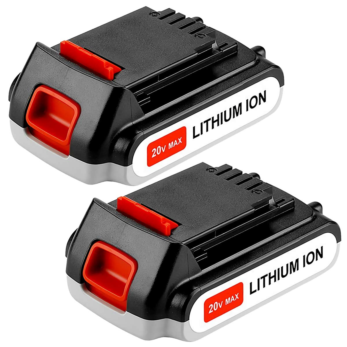 2Pack LBXR20 Replace for Black and Decker 20V Battery 2.0Ah Max Lithium LB20 LBX20 LST220 LBXR2020-OPE LBXR20B-2 LB2X4020 Cordless Tool Batteries