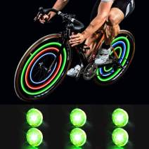 MapleSeeker Bike Wheel Lights Bike Spoke Lights with Batteries Included, Waterproof Bicycle Wheel Lights for Safe Cycling, Easy to Install Cool Bike Lights for Wheels 6-Pack