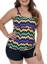 LALAGEN Womens Plus Size Tankini Swim Top Swimwear Swimming Shirt No Bottom