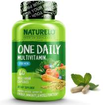 NATURELO One Daily Multivitamin for Men - with Whole Food Vitamins & Organic Extracts - Natural Supplement - Best for Energy, General Health - Non-GMO - 60 Capsules | 2 Month Supply
