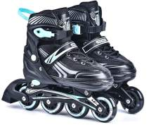 Goupsky Adjustable Inline Skates with 8 Wheels Light Up Wheels for Kids/Adult/Beginners
