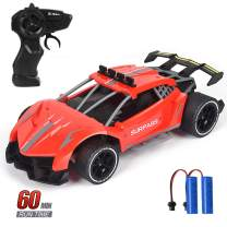 Think Wing RC Racing Cars, 1/16 Scale High Speed Remote Control Car with 2.4Ghz, Electric Sport Toys Car with Two Rechargeable Batteries for Boys Girls & Adults (06116-4)