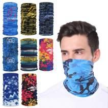 8PCS/Pack Face Mask Bandanas Sports & Casual Multifunction Neck Gaiter Headwear Seamless Headwrap Balaclava
