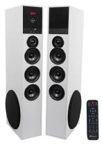Tower Speaker Home Theater System w/Sub for Sony X800E Television TV-White