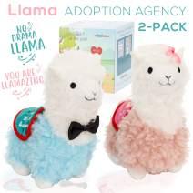 Adopt a Llama Stuffed Animal - Our Adoption Agency is Open. 2 New Cute Baby Lama Alpaca Plush Animals toys. No Drama Llama and You Are Llamazing Llamas are cute, fun, soft and Pre- Box wrapped