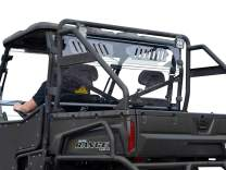 SuperATV Heavy Duty Clear Vented Rear Windshield for Polaris Ranger Full Size 570 / Crew - (2016+) - Protection From Flying Debris