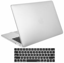ProCase MacBook Pro 13 Case 2019 2018 2017 2016 Release A2159 A1989 A1706 A1708, Hard Case Shell Cover and Keyboard Skin Cover for MacBook Pro 13 Inch with/Without Touch Bar –Silver
