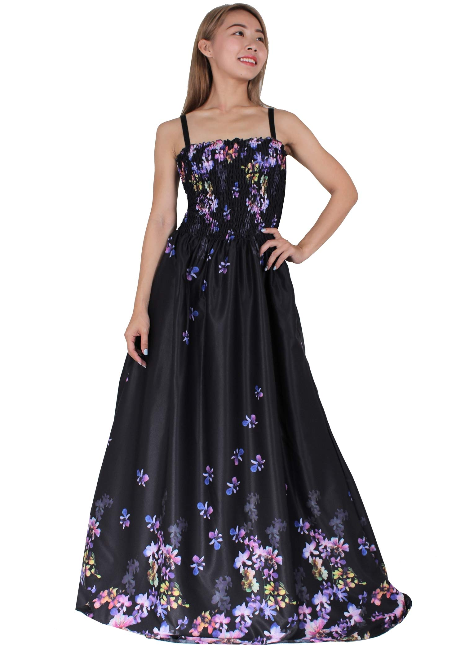 Maxi Dress Plus Size Clothing Black Casual Bridesmaid Party Evening Floral Women