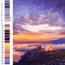 """OyeArts Paint by Number for Adults, DIY Camping Oil Painting Kits Acrylic Canvas Painting of 16""""x20"""" for Beginner to Advanced"""