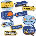 Funny Construction Truck - Baby Shower or Birthday Party Photo Booth Props Kit - 10 Piece