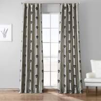 HPD Half Price Drapes EFSCH-18056-84 Designer Embroidered Curtain (1 Panel), 50 X 84, Elias Platinum Silver