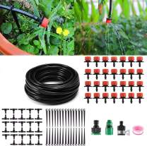 "Blizzow 82ft Garden Irrigation System, 1/4"" Blank Distribution Tubing Automatic Watering Drip Kit/DIY Plant Drip Irrigation Set(red) for Garden Greenhouse, Flower Bed, Patio, Lawn"