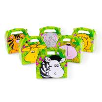 Super Z Outlet Safari Zoo Animals Treat Gift Boxes Birthday Party Favor Jungle Theme 12 Pack