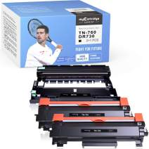 myCartridge SUPRINT Compatible Toner Cartridge and Drum Unit Replacement for Brother TN760 TN-760 DR730 DR-730 HL-L2350DW HL-L2395DW HL-L2370DWXL (2 Toner Cartridges, 1 Drum Unit, 3 Pack)