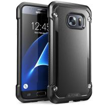 Galaxy S7 Case, SUPCASE Unicorn Beetle Series Premium Hybrid Protective Clear Case for Samsung Galaxy S7 2016 Release, Retail Package (Black/Black)