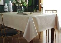 Qualsen Rectangular Tablecloths Easy Care Dinning Table Cover Waterproof Oil-Proof Spill-Proof Durable Tablecloth (60 x 120 inch),Color 2
