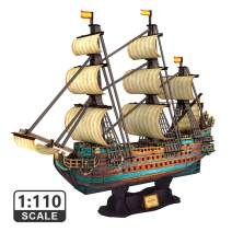 "CubicFun The San Felipe Model Ship Kits 3D Puzzle 25.6"" for Adults and Teens, Stress Relief Hobby Cool Decoration Birthday Gift for Men 248 Pieces"