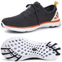 STQ Mens Lace-up Water Shoes | Beach Swim Pool Aqua Sneakers