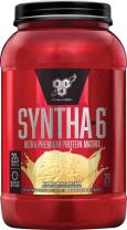 BSN SYNTHA-6 Whey Protein Powder, Micellar Casein, Milk Protein Isolate Powder, Vanilla Ice Cream, 28 Servings (Package May Vary)