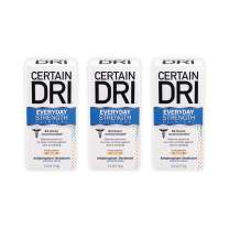 Certain Dri Everyday Strength Clinical Antiperspirant Deodorant | Effective All Day Protection Against Odor and Sweat | Solid | 2.6 Ounces | Pack of 3