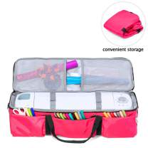 Luxja Carrying Case for Cricut Explore Air (Air2) and Maker, Foldable Bag for Cricut Explore Air (Air2) and Supplies (Bag Only), Rose Red