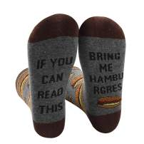 Womens Novelty Socks If You Can Read This Funny Combed Cotton Crew Dress Wine Stockings
