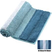 XIYUNTE Small Bath Mat Non Slip - 18 x 26(45 x 65cm) Microfiber Bathroom Rugs, Soft and Absorbent Shaggy Carpet Rugs for Bathroom,Living Room, Machine Washable Door Mats, Floor Mat, Pet Mats