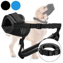 Dog Muzzle with Soft Pad for Small Medium Large Dogs Stop Barking Biting and Chewing Breathable Mesh Adjustable