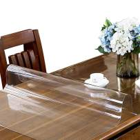ETECHMART 40 x 72 Inches Clear PVC Table Top Protector, 2.0mm Thick Wipeable Waterproof Desk Pad, Heat Resistant Rectangular Table Cover for Dining Room Table