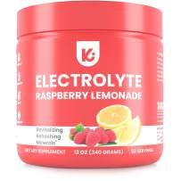 Keto Electrolytes Powder Advanced Hydration - Stay Healthy, Stay Hydrated, 50 Servings, Raspberry Lemonade Electrolyte Supplement, Boost Energy, NO Maltodextrin Sugar Free Electrolyte Powder