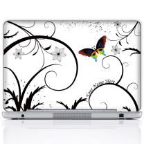 Meffort Inc Personalized Laptop Notebook Notebook Skin Sticker Cover Art Decal, Customize Your Name (14 Inch, Butterfly Swirl)