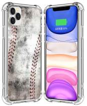 IWONE Case for iPhone 11 Pro Max Designer Rubber Durable Protective Skin Transparent Cover Shockproof Compatible for iPhone 11 Pro Max Creative Vintage Baseball Art Printing