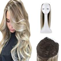 Full Shine 16 Inch U Part Wig Cap With Clips And Breathable Lace For Women 120 Grams Real Human Hair Wigs Blonde Color 60 Highlight With Color 8 Ash Brown Straight Brazilian Hair Wigs Human Hair