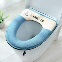 Universal Soft Toilet Seat Cover With Handle Toilete Accessories Warm Soft Plush Zipper Wc Mat Toliet Mat Toilet Seat Cover With 1 Pair Of Adhesive Toilet Seats