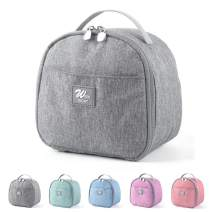Lunch Bags for Women, KEAIDUO Insulated Small Size Mini Lunch Box Cooler Bag for Work, Office, School (Grey)
