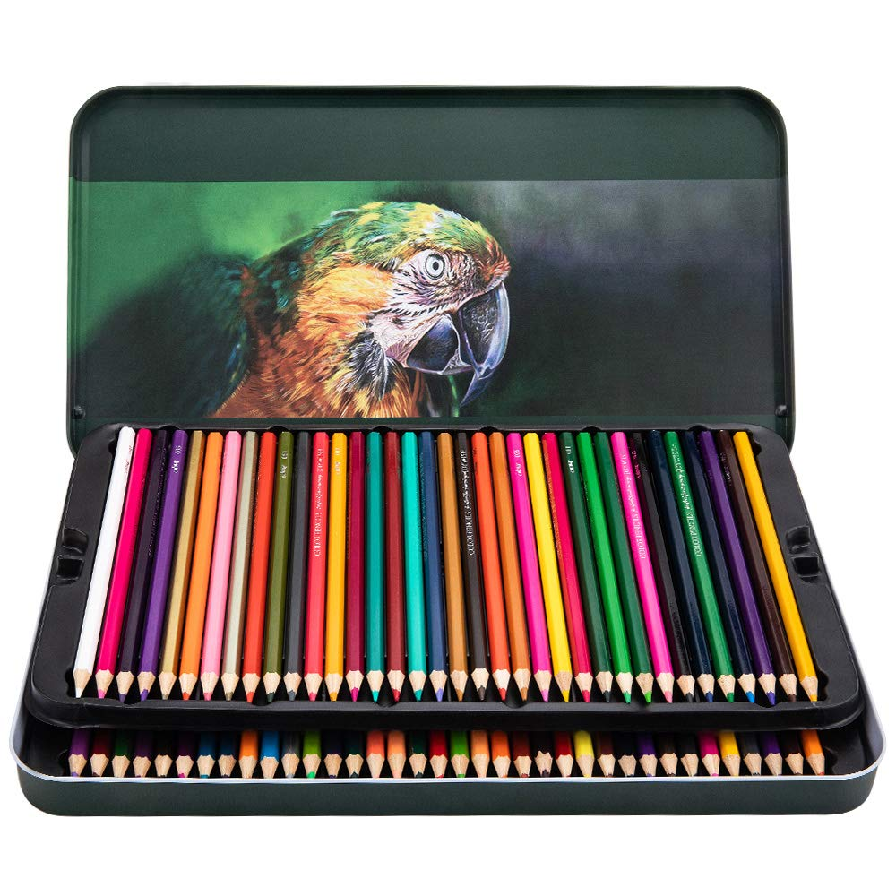 Colored Pencils 72 Count Set-Soft Core Pre-Sharpened Drawing Pencils for Adults and Children