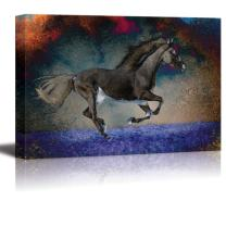 wall26 - an Exposed Horse Caught in Mid Gallop - Canvas Art Home Decor - 24x36 inches