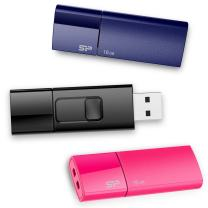 Silicon Power  3 Pack 16GB USB 2.0 Flash Drive Thumb Drives Memory Stick for Windows Black Blue Pink color (SP048GBUF2U05VCMBT)