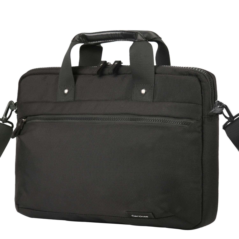 Cartinoe Laptop Bag 15.6 Inch Briefcase Shoulder Messenger Bag Water Repellent Laptop Bag Satchel Tablet Business Carrying Handbag Laptop Sleeve for MacBook Pro 15 Case for Women and Men, Black