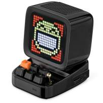 Divoom Ditoo Retro Pixel Art Game Bluetooth Speaker with 16X16 LED App Controlled Front Screen (Black)