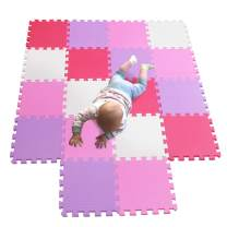 MQIAOHAM Baby Play mats Soft Puzzles Puzzle for jigsaws Shape eva Foam mat eva Floor Gym Floor Furniture Kids Treadmill Water Outdoor Exercise Fitness White Pink Rose Purple 101103109111