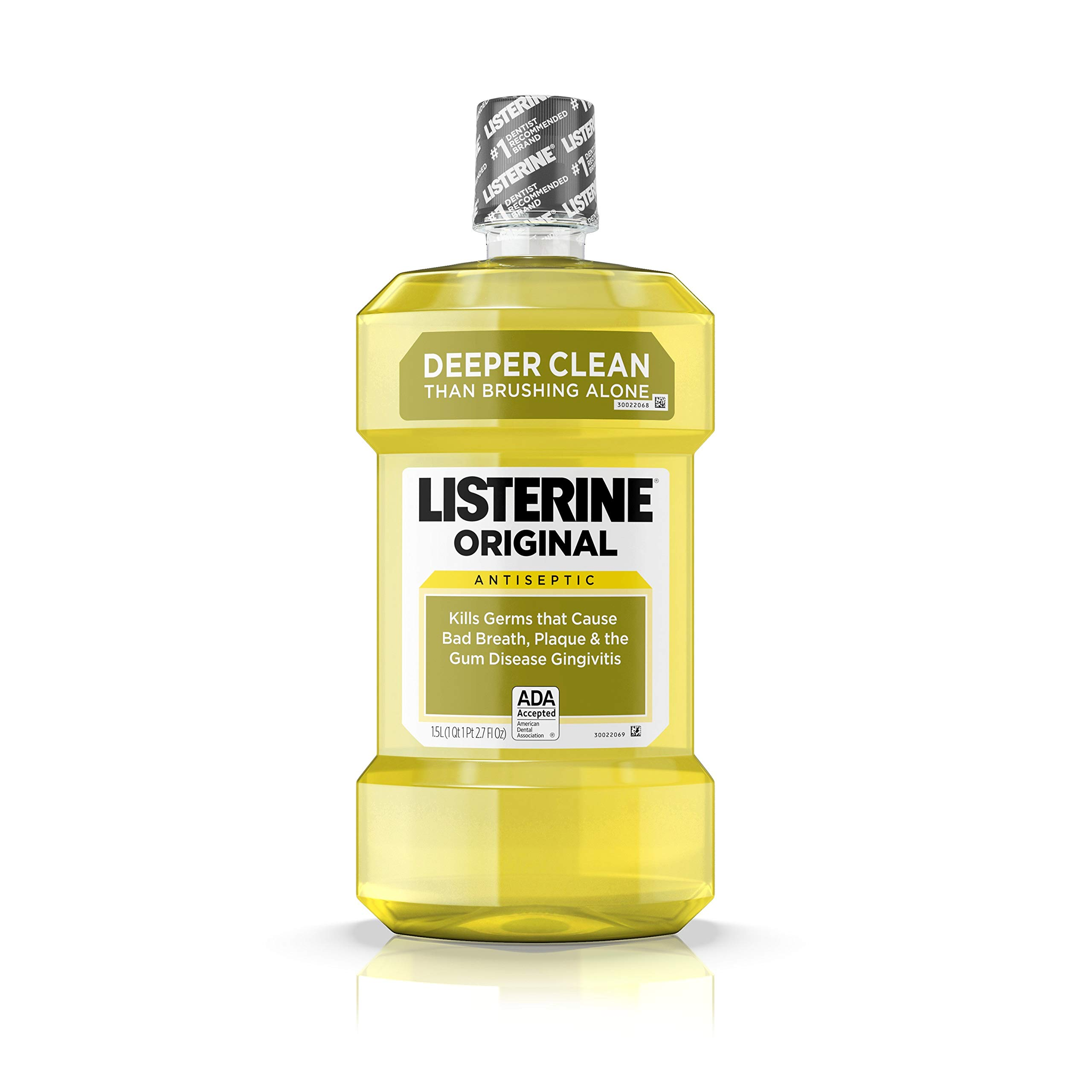 Listerine Original Oral Care Antiseptic Mouthwash with Germ-Killing Formula to Fight Bad Breath, Plaque and Gingivitis, 50.7 Fl Oz