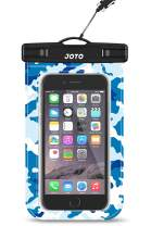"""JOTO Universal Waterproof Pouch Cellphone Dry Bag Case for iPhone 11 Pro Xs Max XR XS X 8 7 6S Plus, Galaxy S10 Plus S10e S9 Plus S8 + Note 10+ 10 9 8, Pixel 4 XL 3a 2 up to 6.8"""" -Blue Camo"""
