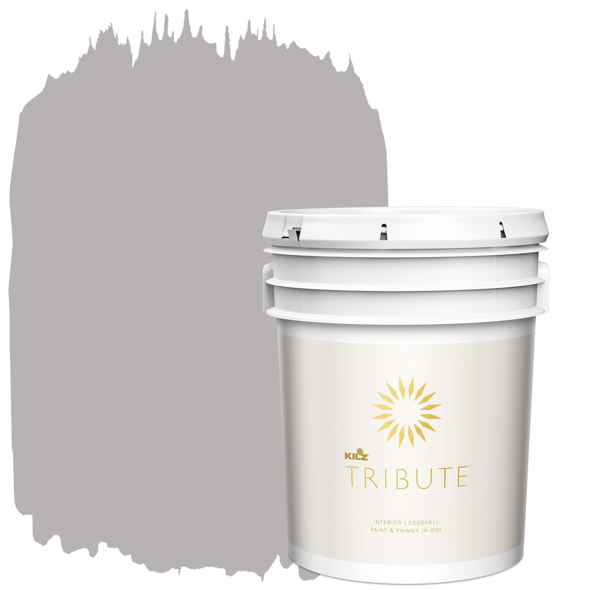 KILZ TRIBUTE Interior Eggshell Paint and Primer in One, 5 Gallon, Postcard (TB-25)